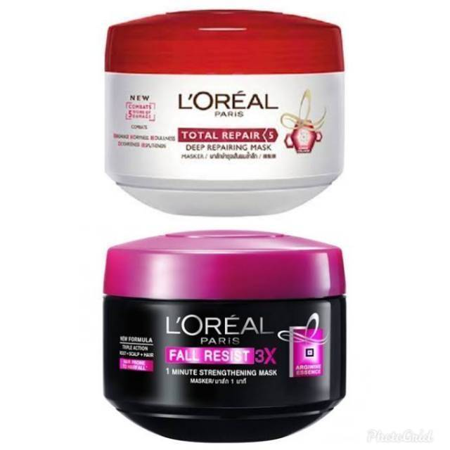 Loreal Paris Hair Mask Fall Resist Total Repair 200ml L Oreal Masker Rambut Shopee Indonesia