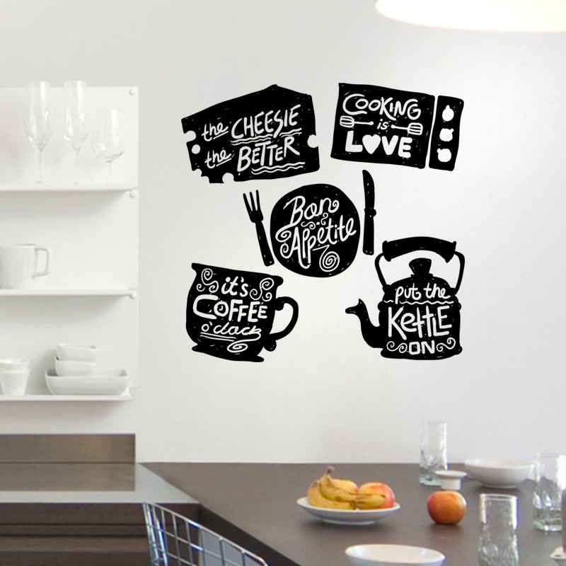 dt.shopdan stiker dinding / wall sticker anti minyak dapur 60 x