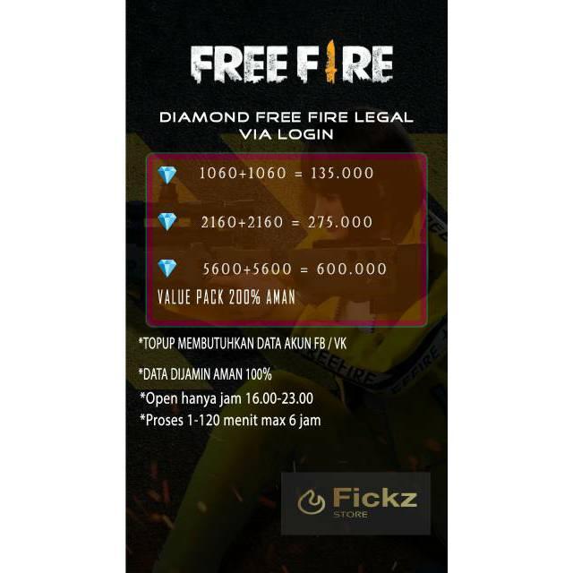 Promo Diamond Free Fire [FF] Via Login LEGAL 100%