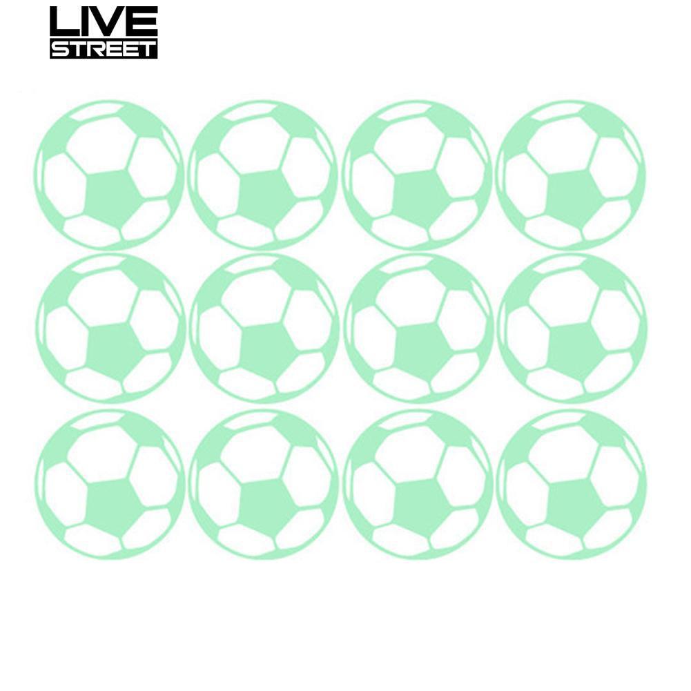 Stiker Dinding Dengan Bahan Mudah Dilepas Dan Gambar Kartun Sepak Bola Untuk Dekorasi Rumah
