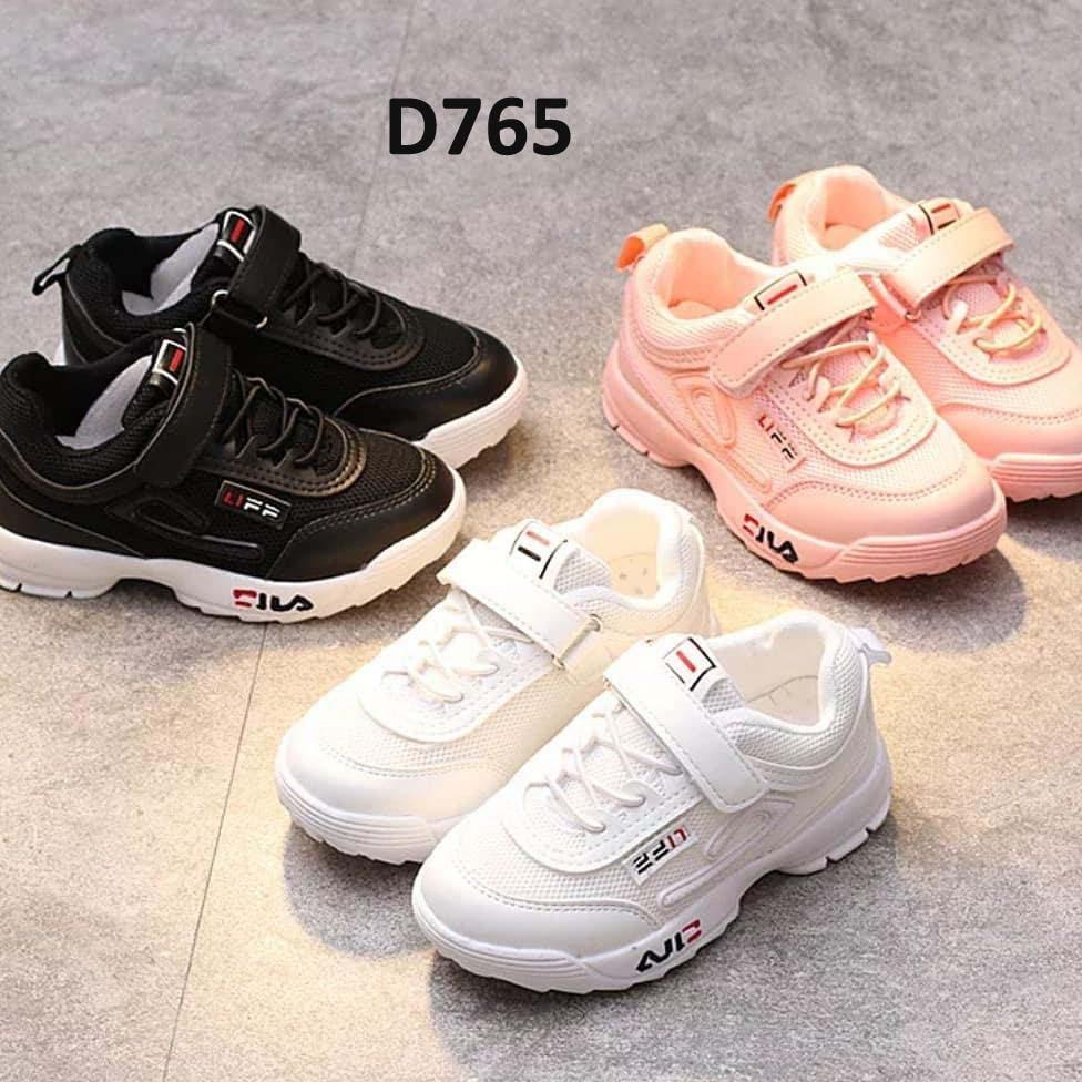 hen6031 sepatu fila anak import size 31-36 - 31- Hitam  bf72412a07