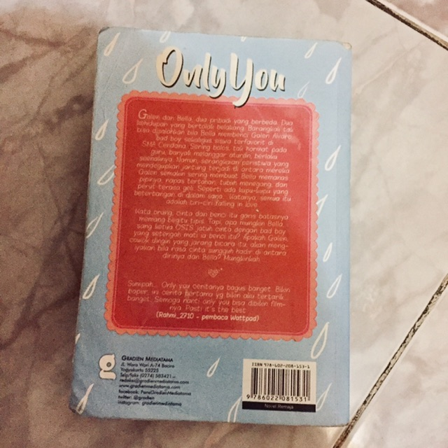 Novel Only You Shopee Indonesia