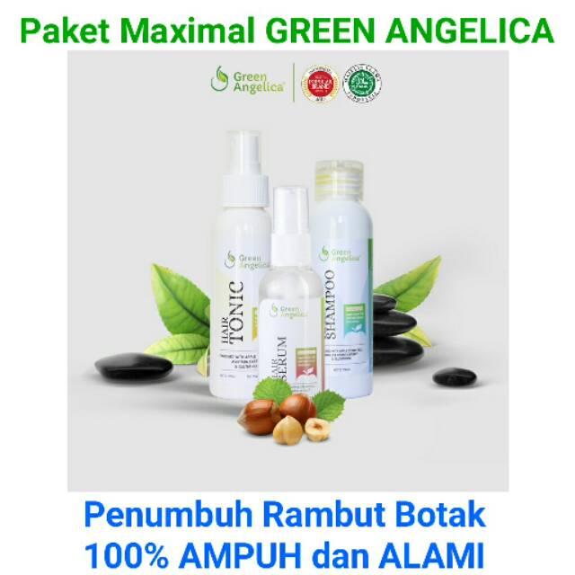 Paket Penumbuh Rambut Penipisan Ringan dan Pencegah Kebotakan Green Angelica   2ad277006b