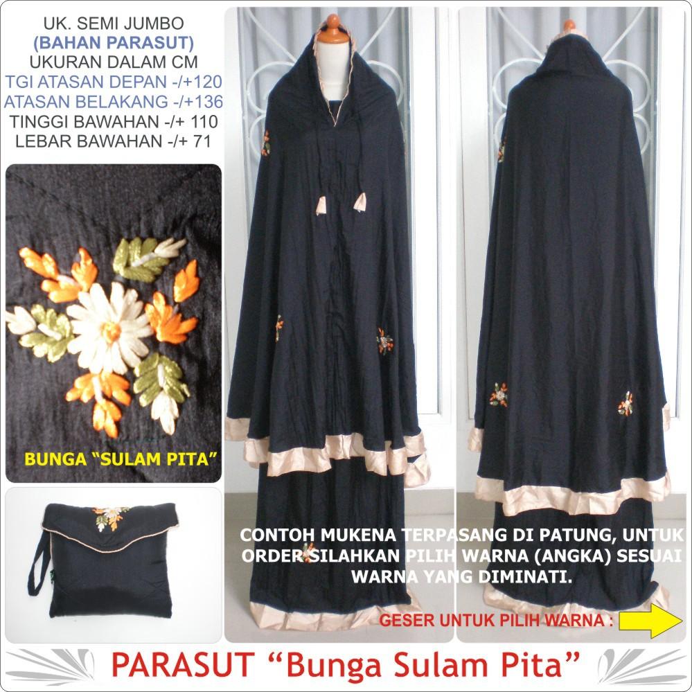 Mukena parasut Parasit kaca Mukenah Rukuh Organdi Organza Abutay Abutai Hiasan Rampel Jumbo Dewasa   Shopee Indonesia