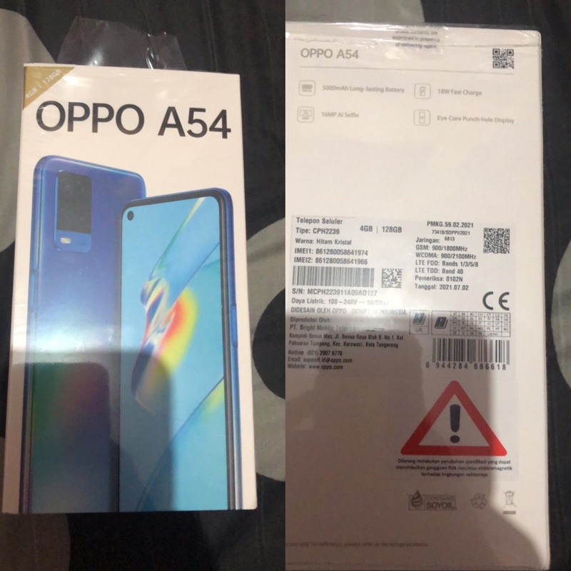 OPPO A54 4/128GB SECOND LIKE NEW
