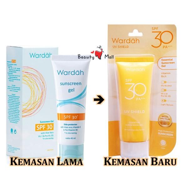 Wardah Sun Care Sunscreen Gel SPF 30 | Kemasan Baru UV ...