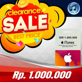 [TOP SELLER] ITUNES GIFT CARD INDONESIA - 1.000.000