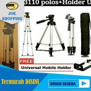 Price Checker Tripod 1 Meter Plus Holder (Bisa Untuk HP, Kamera Dan Miroless) discount - only 65.569Rp