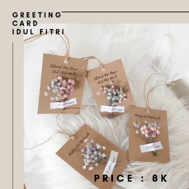 All Season Seasional Greeting Card Dried Flower Semua Kartu Ucapan Bunga Kering Florist Murah Shopee Indonesia