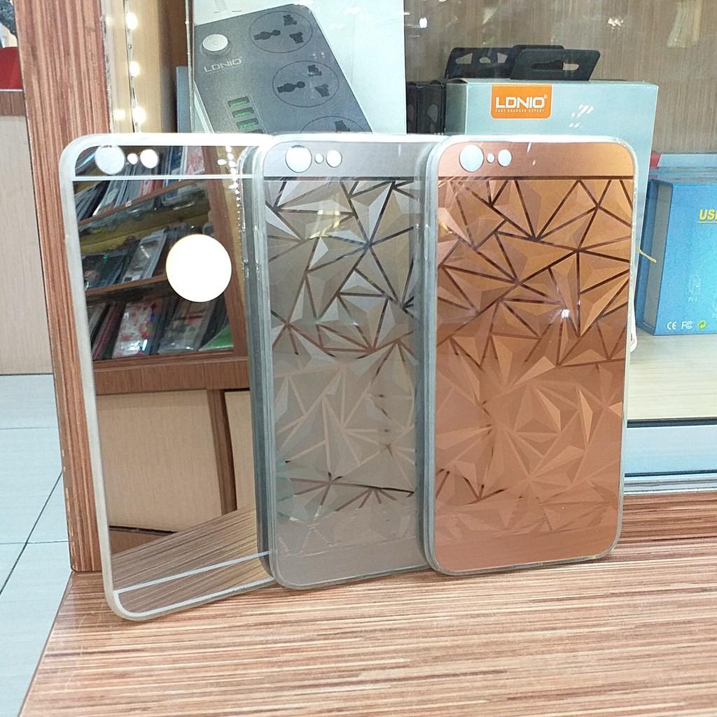 Case Iphone 6 plus Softcase Diamond Mirror Case polos Silikon Berwarna Slim
