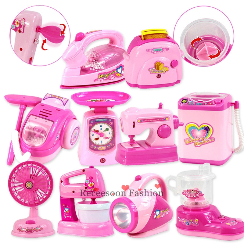 Mini Household Appliances Toys Kid Pretend Play Learning Toy Gifts For Girls Shopee Indonesia