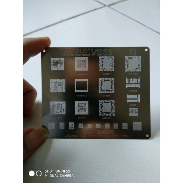 Plat Bga Cetakan Ic CPU Emmc Vivo Oppo Welsolo VS03 Original