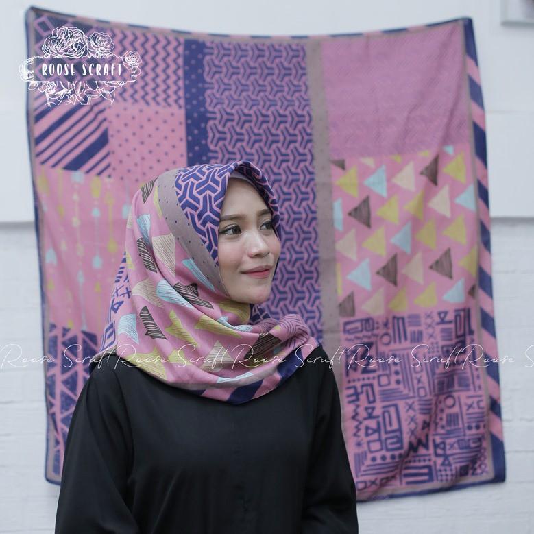 Hijab Deenay Kw Voal Roose Hijab Deeka Shopee Indonesia