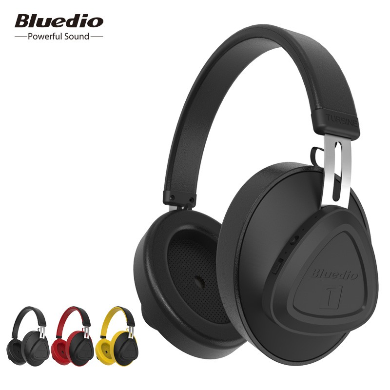 dad10a7b951 Bluedio TMS Headphone headset Bluetooth 5.0 Wireless Mic ANC Over Ear  Studio VFT 118dB 57mm Drive | Shopee Indonesia