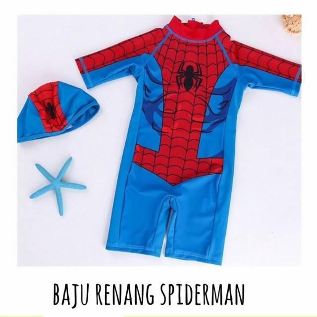 Baju Renang Swimsuit Superhero Spiderman Murah Bagus Impor Bayi Balita Anak Laki-laki Cowok | Shopee Indonesia