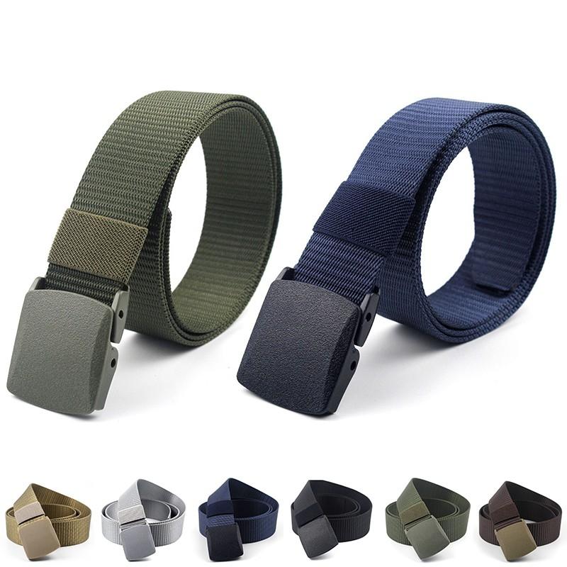 US Mens Adjustable Outdoor Sport Military Tactical Waistband Canvas Web Belt