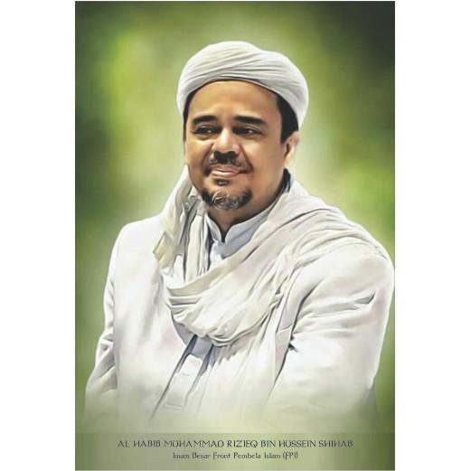 Poster Habib Rizieq Syihab Ukuran A3 32 47cm Tajam Tidak Pecah Shopee Indonesia