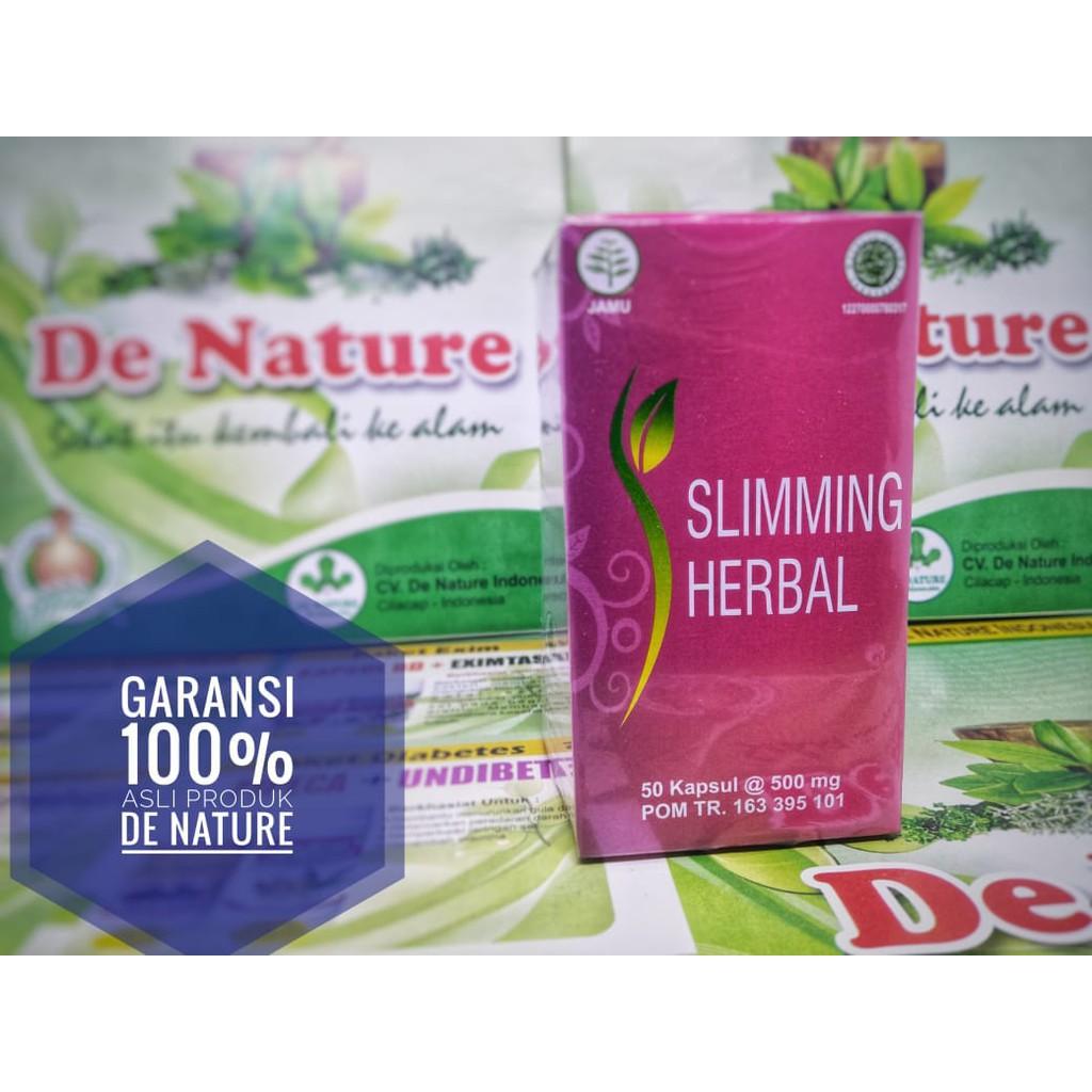 Obat Pelangsing Kapsul Slimming Herbal Mengecilkan Perut Buncit Dan Menurunkan Berat Badan De Nature Shopee Indonesia