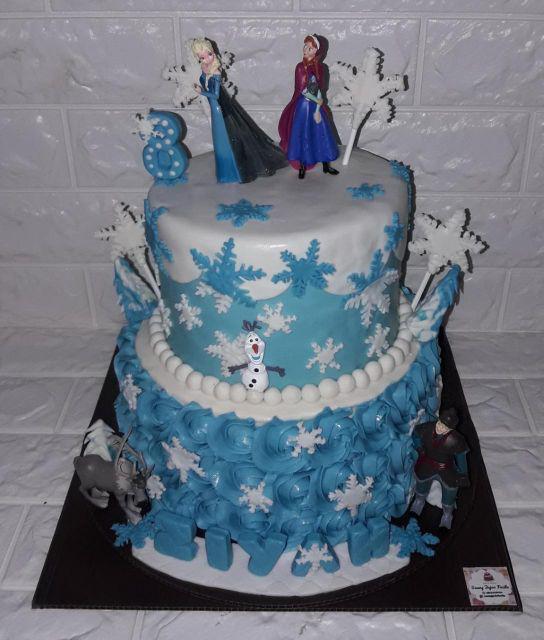 Kue Ulang Tahun Frozen Cake Frozen Elsa 2 Tingkat