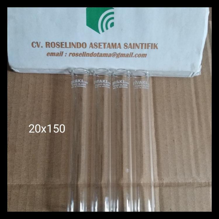 Iwaki Test Tube With Rim 20 X 150 Mm Tabung Reaksi Kode 160