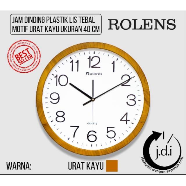 Produk Laris Jam Dinding Diameter 32 Cm - List Tebal Urat Kayu Murah Meriah   c262552853