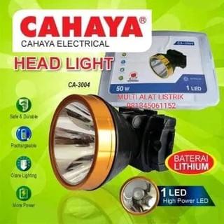 Senter Kepala Besar Cahaya 50 Watt 1led Senter Jumbo Shopee Indonesia