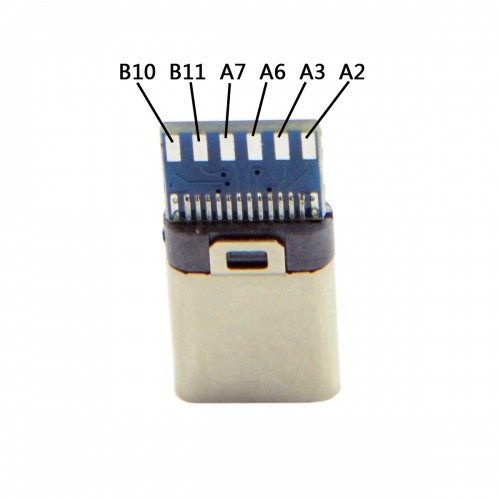 5set DIY 24pin USB 3.1 Type C USB-C Male Plug Connector SMT type with 3.5mm SR