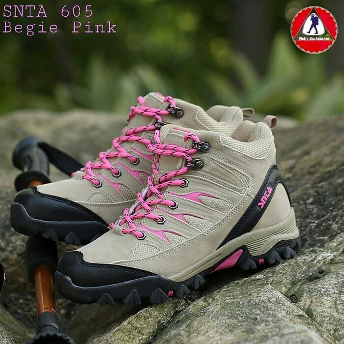 Sepatu Gunung Snta 605 Grey Fuschia - Adventure Boots Hiking Outdoor Trekking  Women Series  15646dbf76