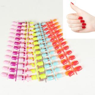24 pcsPatch fake nails kuku palsu nail art Warna solid matte selesai set dpt dipakai No glue thumbnail