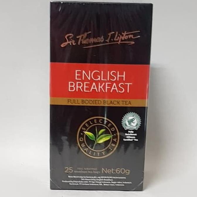 Teh Lipton English Breakfast Tea - Lipton Teh Celup Stl Enveloped 25 English Breakfast 60g | Shopee Indonesia