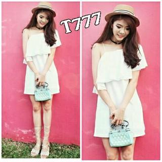 Zeefashion Lq Dress Sabrina White Putih Sexy Gaun Pesta Rok Mini