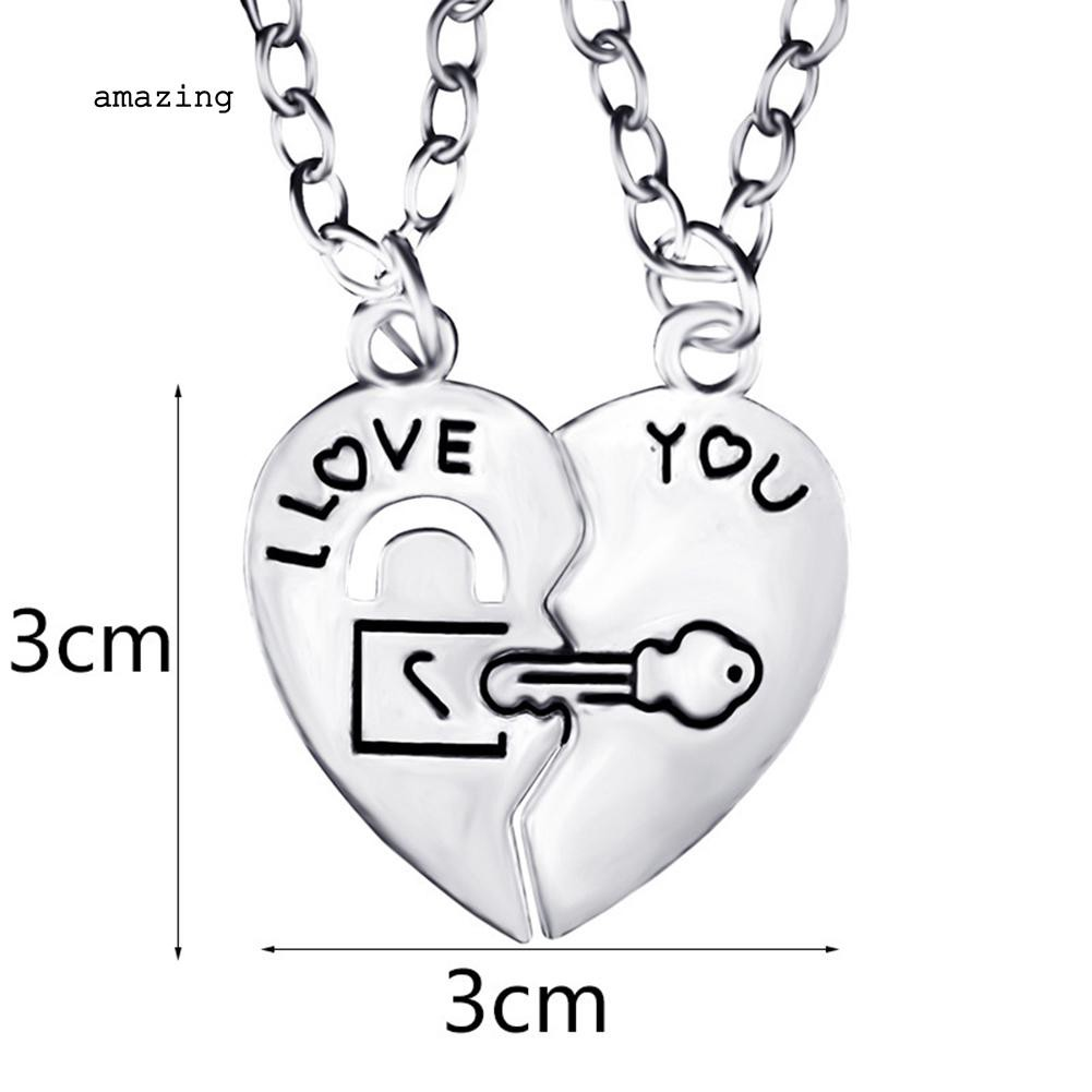 Jewelry 1Pc Heart Pendant I Love My Husband Necklace Gift I Love My Wife