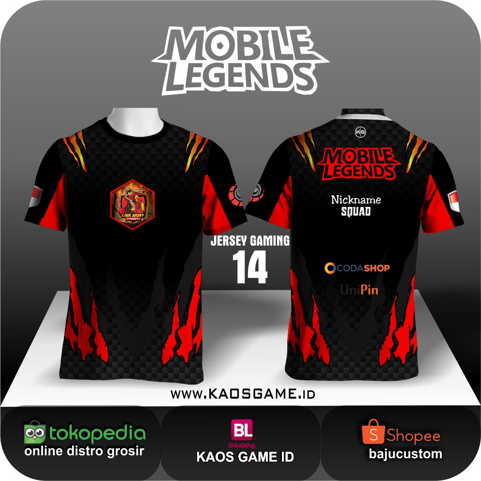 Jersey Team Mobile Legends Shopee Indonesia