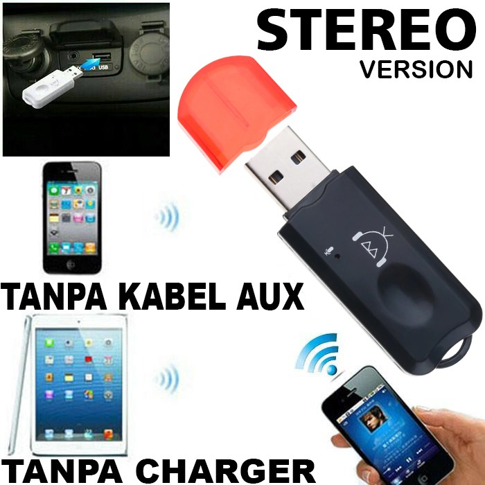 Langsung Usb Bluetooth Audio Music Receiver Stereo Adapter Wireless Hp Handphone Ke Speaker Mobil Shopee Indonesia