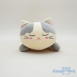 boneka kucing duduk sitting cat lonceng bahan spandex abu abu ... bcc2471023