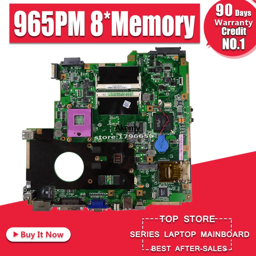 Motherboard Z96s Laptop Motherboard For Asus Z96s S96s Test Original Mainboard 965pm 8 Memory Shopee Indonesia