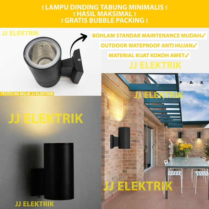 Lampu Dinding Taman Minimalis Outdoor Hias Tabung 1 Arah E27 Tanpa Bohlam Shopee Indonesia
