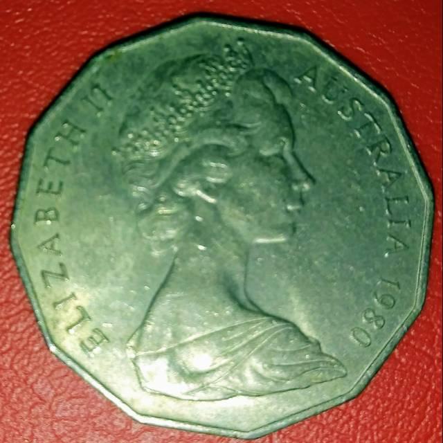 1980 Koin Australia 50 cents