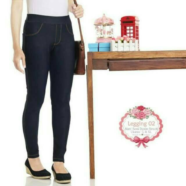 Celana Legging Semi Jeans L Xl Shopee Indonesia