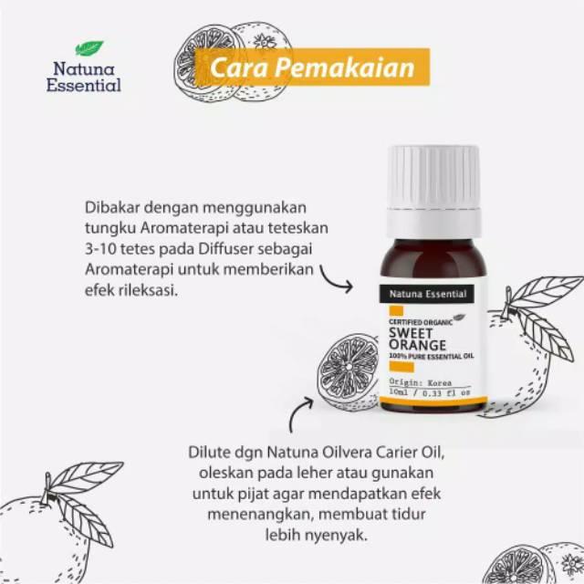Natuna Sweet Orange Essential Minyak Essensial Atsiri Aroma Terapi Eo Shopee Indonesia