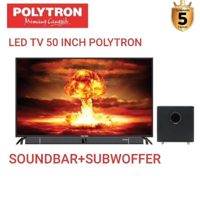 """LED TV 50 INCH POLYTRON 50"""" PLD50B880 SOUNDBAR + SUBWOFFER"""