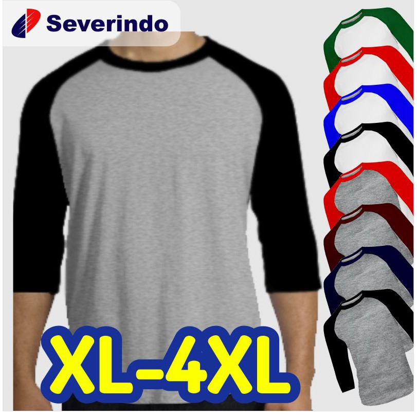 Kaos Polos Raglan Jumbo Big Size XL XXL XXXL (3XL) XXXXL (4XL)   Shopee Indonesia