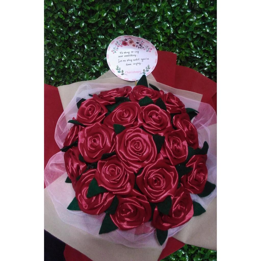 Buket Mawar Buket Bunga Besar Buket Bunga Satin Besar Hadiah Ultah Hadiah Wisuda Buket Cantik Shopee Indonesia