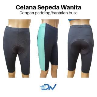 Celana sepeda wanita padding busa | celana sepeda cewek