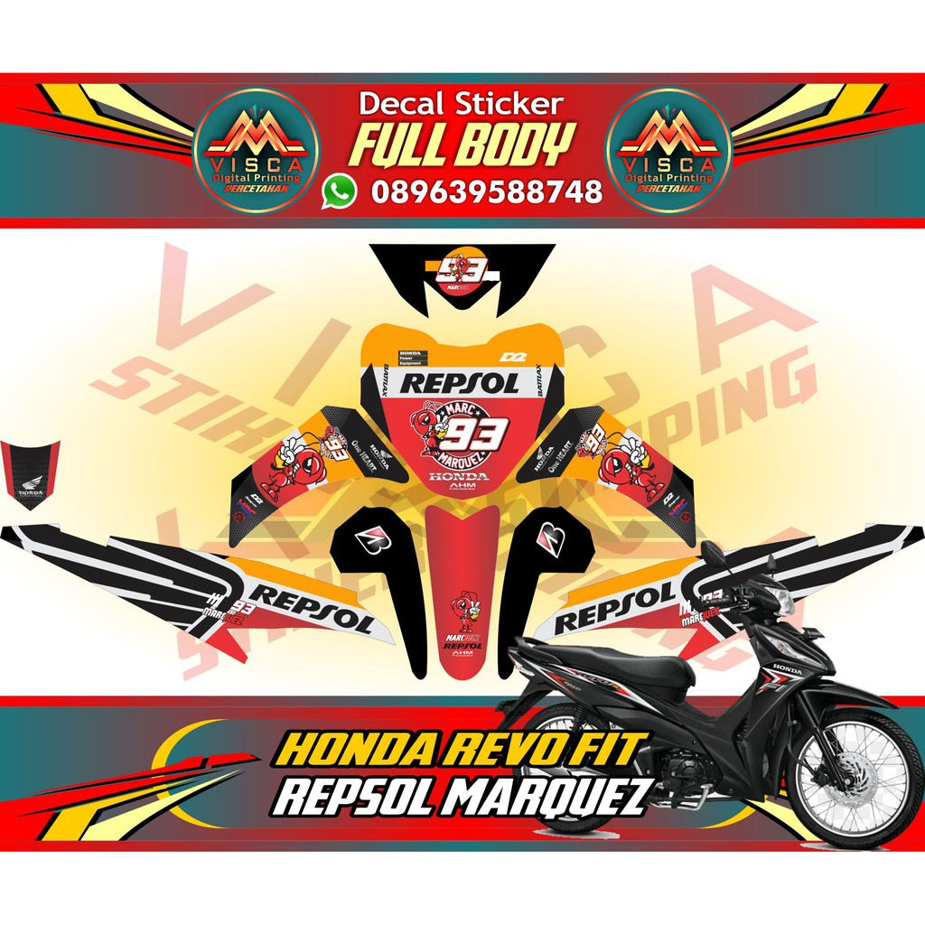 Stiker full body decal motor striping motor spacy sonic shopee indonesia