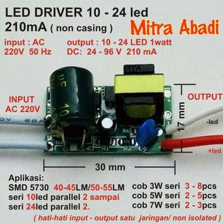 LED Driver AS 20 Watt 600 mA AC-DC Casing Besi WATERPROOF | Shopee Indonesia