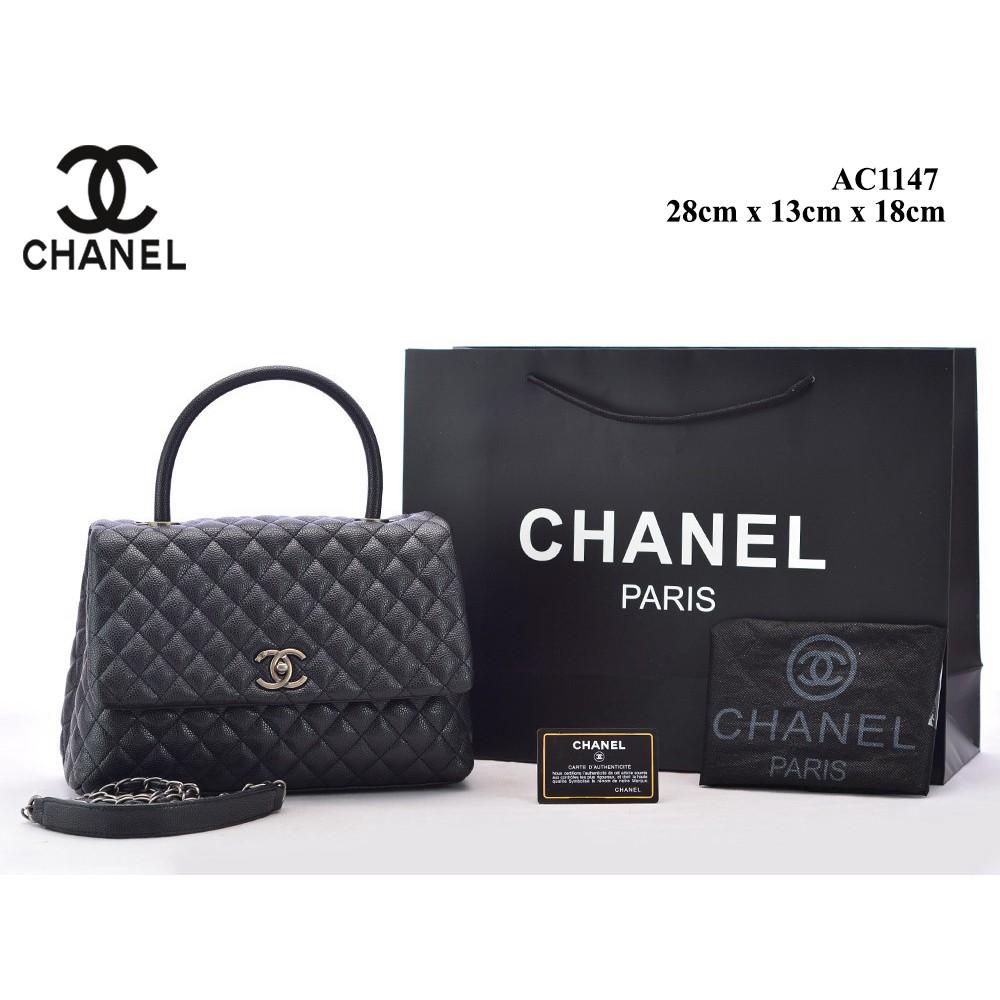 f0a3d990dff5 TAS BRANDED IMPORT MURAH - Tas Chanel Coco Top Handle Caviar Medium HITAM  SempremAC1146 | Shopee Indonesia