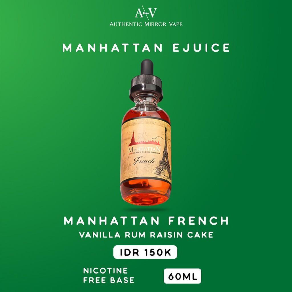Manhattan French 6MG-9MG-12MG-18MG-24MG 60ML By Manhattanliquid Autehntic - Liquid Freebase