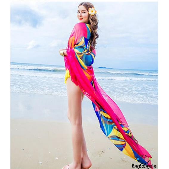 Large Sarong Two Tone Ombre Sarong Beach Pareo Dress Wrap Swimwear Cover Up