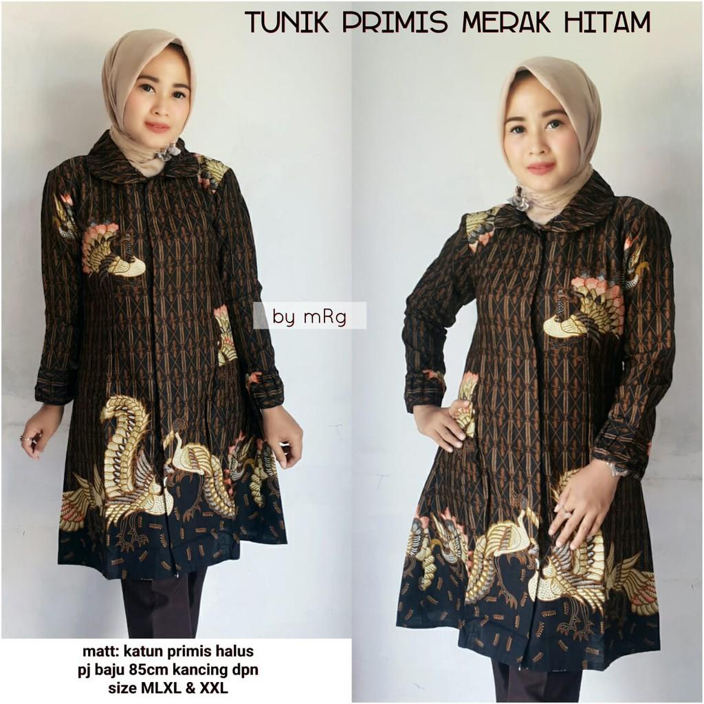batik+Atasan+Fashion+Muslim+Tunik - Temukan Harga dan Penawaran Online  Terbaik - Agustus 2018  4f2688168a